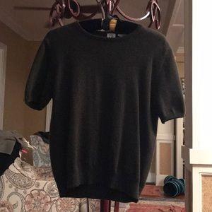 TSE cashmere, short-sleeve brown sweater